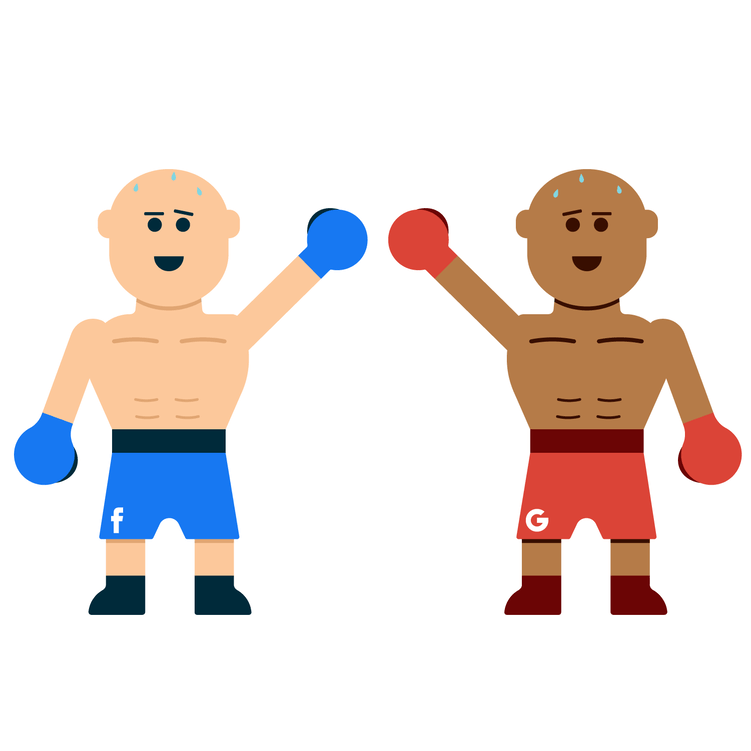 two animated wrestlers both win at the end