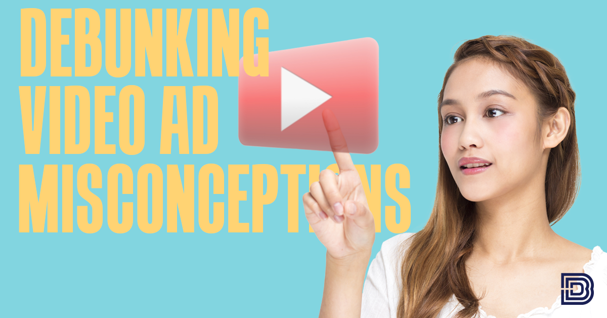 Debunking Video ad misconceptions, lady clicking on play button